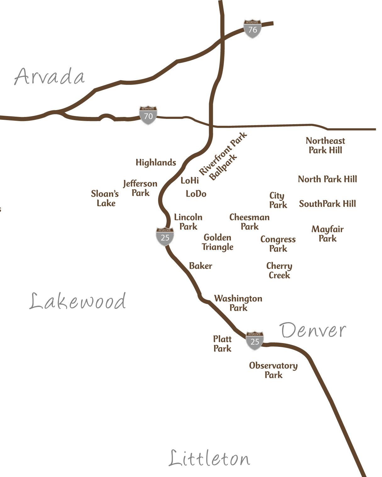 Denver Map   Jessica Peterson Real Estate on